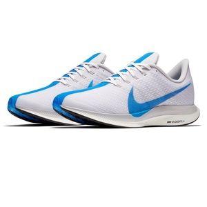 NIKE • Pegasus 35 Turbo white & blue sneaker